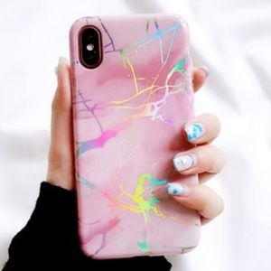 NEW iPhone X/XS Candy Marble Laser Case